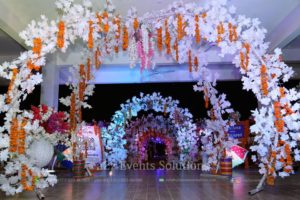 mehndi entrance decor, mehndi entrance decoration with fresh and imported flowers
