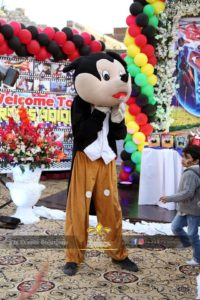 cartoon character for birthday event