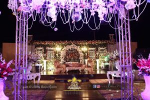 wedding stage decor, decor experts, elegant stage