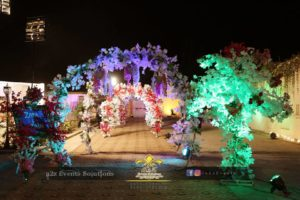 wedding entrance decor, thematic entrance decor