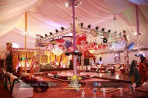 dance floor setup, mehndi event setup, wedding setup