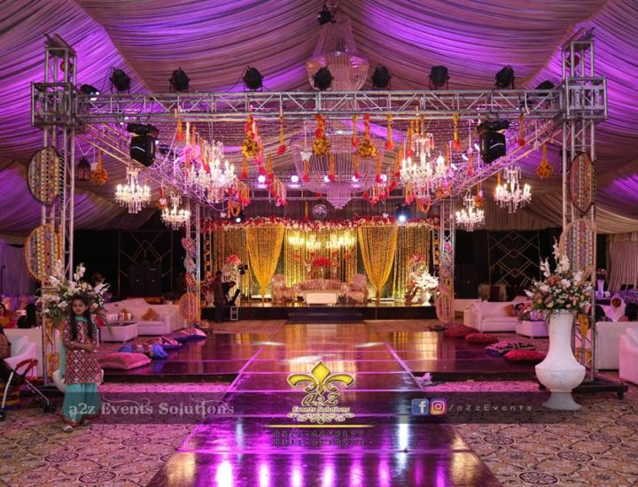 mehndi event designers and decorators, mehndi setup, wooden walkway, dance floor, four sided truss, setup designers