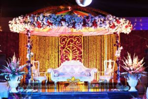 mehndi stage, stages decorators, dome stage