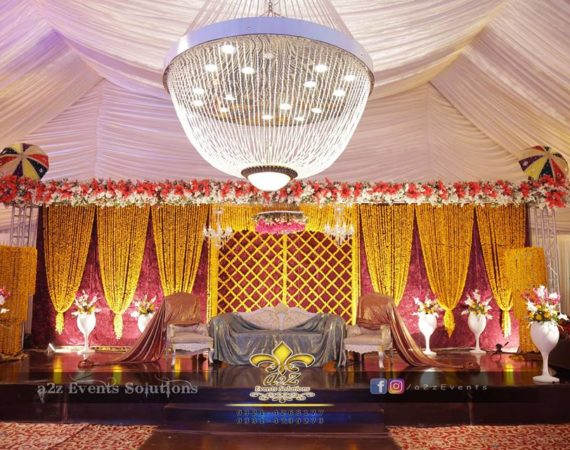 trending mehndi stage, stage decoration service providers