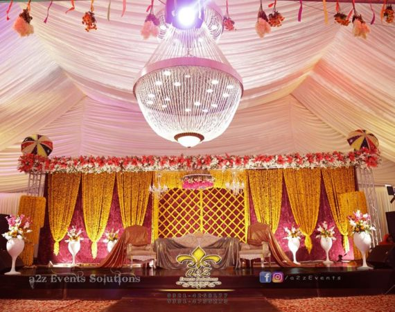 grand mehndi stage, stages designers, stages decorators