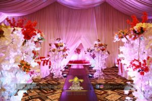 imported flowers decor, walkway decor, decor experts