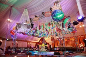 mehndi event setup, hanging garden, wedding decorators