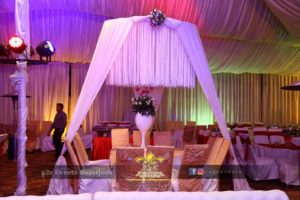 table arrangements, gazebo, barat setup