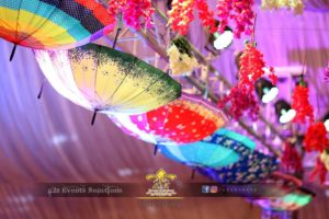 umbrellas hanging, event planning, creative planners, creative wedding designers