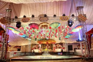 mehndi event planners, hanging garden, dance floor and mehndi setup