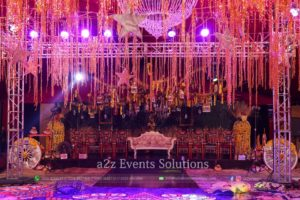 a2z events solutions, best mehndi decor setup