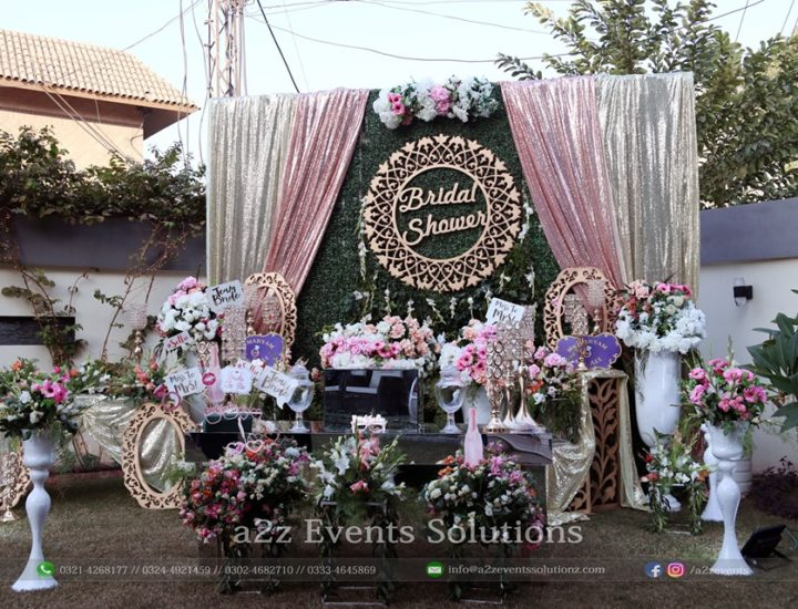 stage, bridal shower stage, grand floral stage, imported flowers decor