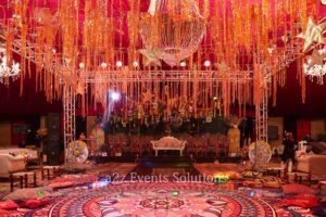 dance floor, hanging garden, best event planners in lahore, grand mehndi setup