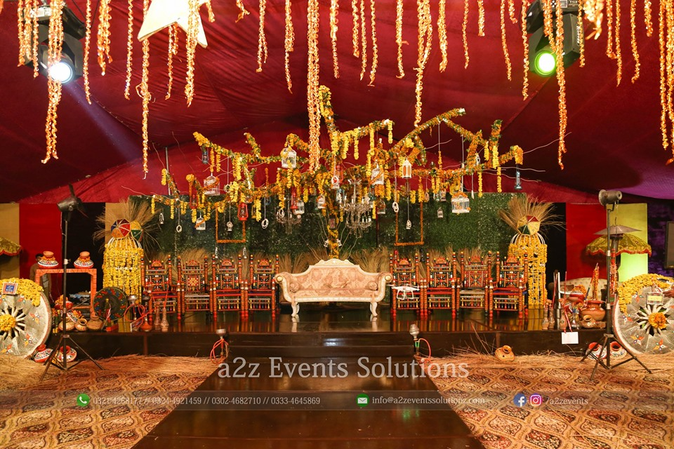 grand mehndi stage, stages designers in lahore