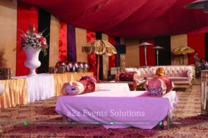village theme, mehndi setup