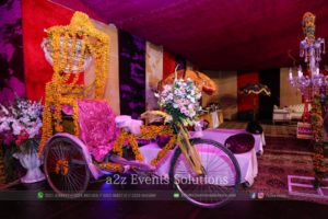 entrance decor, tricycle decor