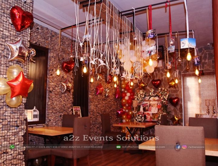 decorated room, wedding anniversary decor, hanging garden, creative planners and designers