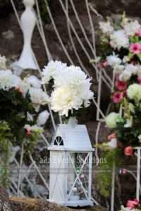 fancy lantern decor, wedding planner and designers