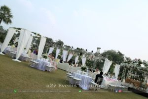 walima setup, grand vip setup, white theme, outdoor decor