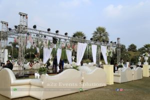 truss, open air setup, outdoor walima setup, vip lounges