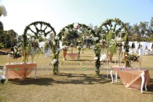 imported flowers decor, entrance decor, open air decor