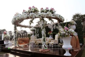 dome stage, stage decor, wedding designers, vip setup