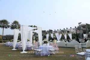 event planners and designers, open air decor, white theme, event specialists
