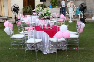 acrylic chairs service providers, vip chairs, balloons decor, birthday setup