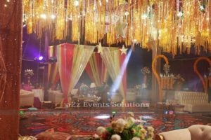 mehndi event, dance floor, hanging garden, flowers decor, area decor