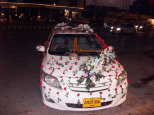 wedding cars decorators in lahore, vip car decor