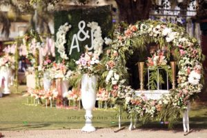 nikkah setup and decor, outdoor decor