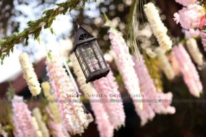fancy lantern hanging, imported flowers decor