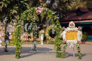 entrance decor, wedding entrance