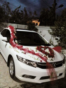 wedding car decor experts, car decorators in lahore