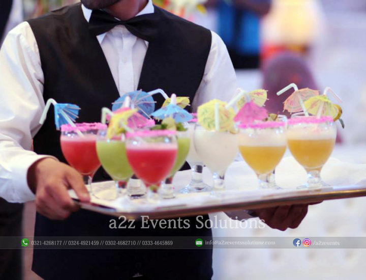 welcome drink, best catering company in lahore