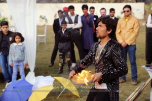 birthday event, fire juggling show