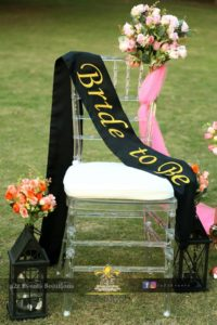 fancy customized bridal shower stages