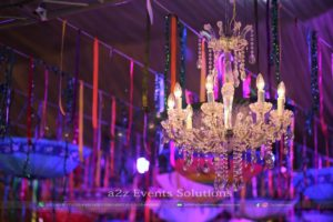royal decor, vip decor, hanging chandeliers, hanging garden