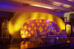half moon stage, c shape stage, mehndi stage, wedding stage