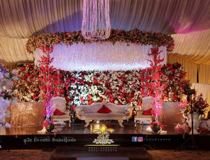new stage, wedding stage, imported flowers, decor specialists