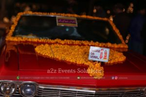 wedding car decor, customized props