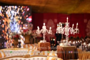standing chandeliers, vip decor
