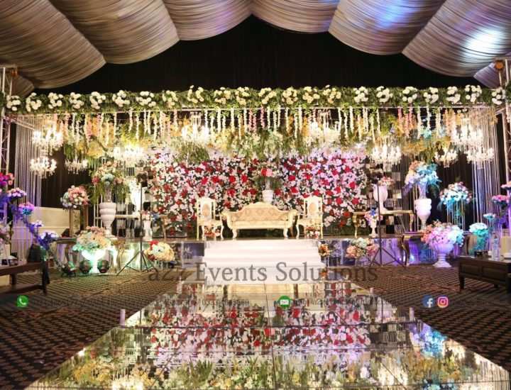 stages desigers in lahore, grand wedding stage decor