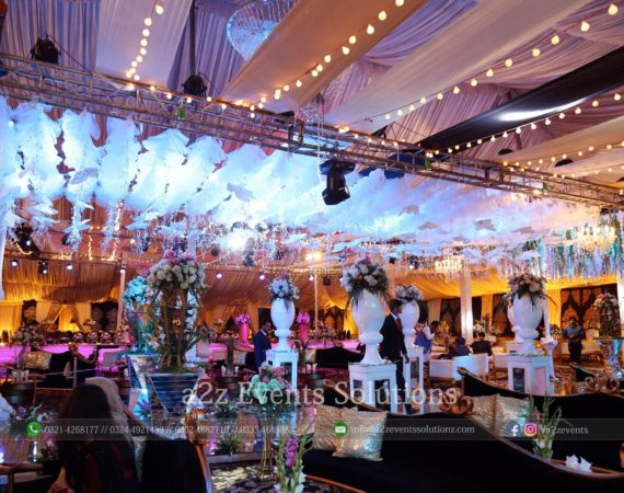 wedding decor, vip event, hanging garden, grand setup