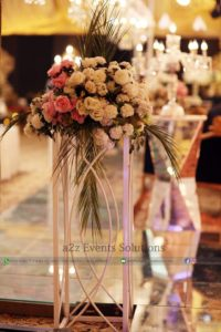 hall decor, imported and fresh flowers decor