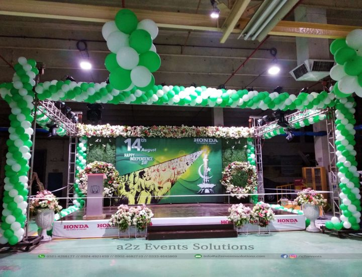 corporate stage, stage decor