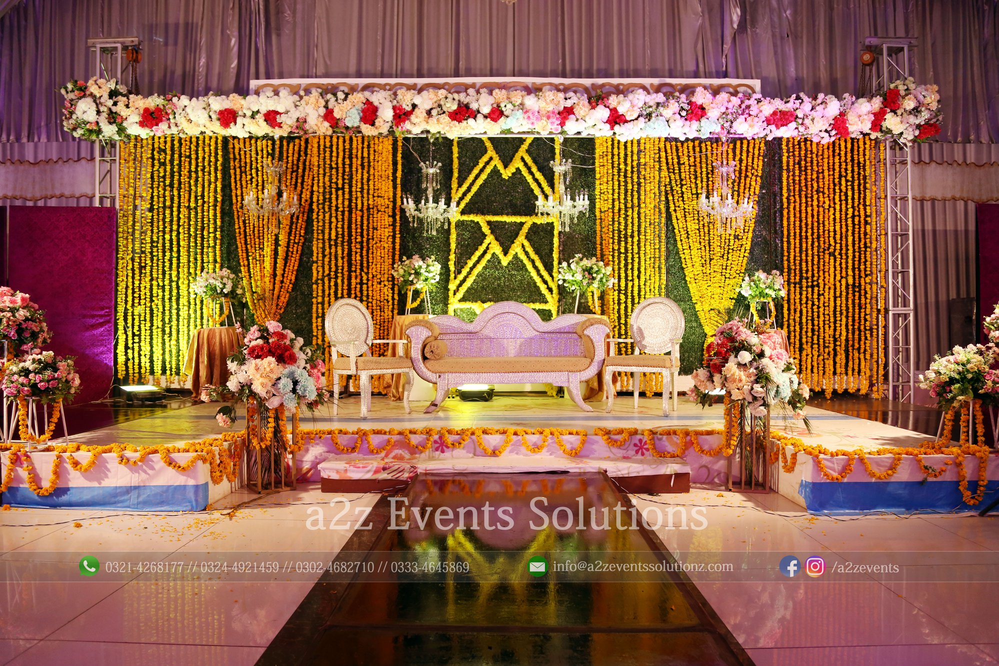 wedding stages designers in lahore, mehndi stage
