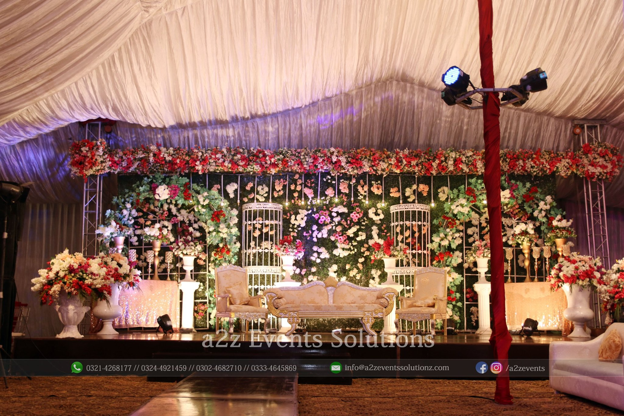 vip grand barat stage, stages designers in lahore
