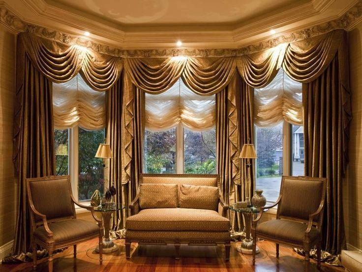 drawing room windows curtains, drawing room interior