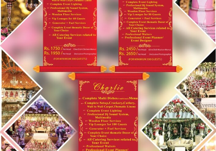wedding packages by a2z events solutions, wedding packages with food,